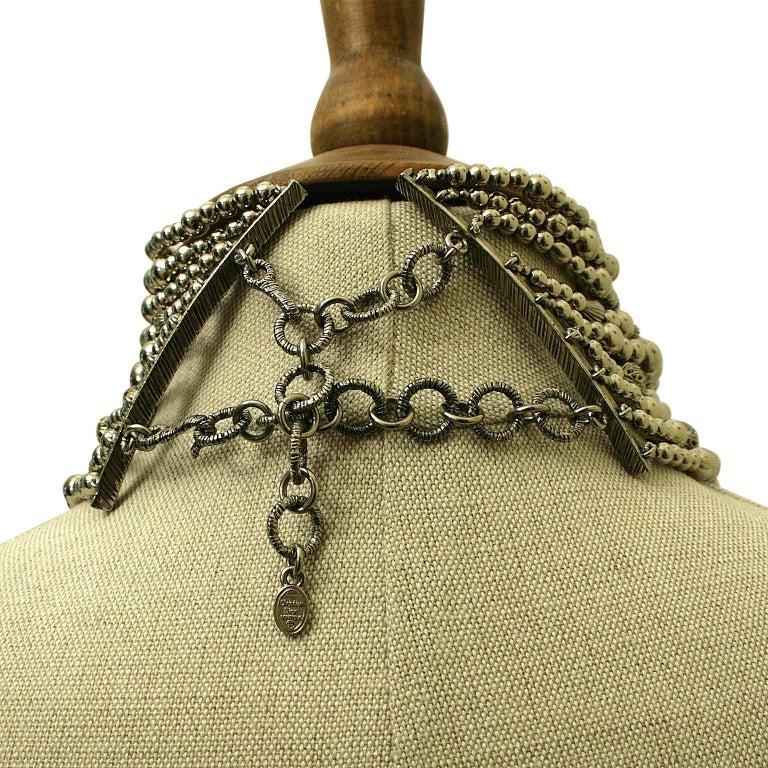 John Galliano for Christian Dior 1990s Maasai Inspired Vintage Choker Necklace 5