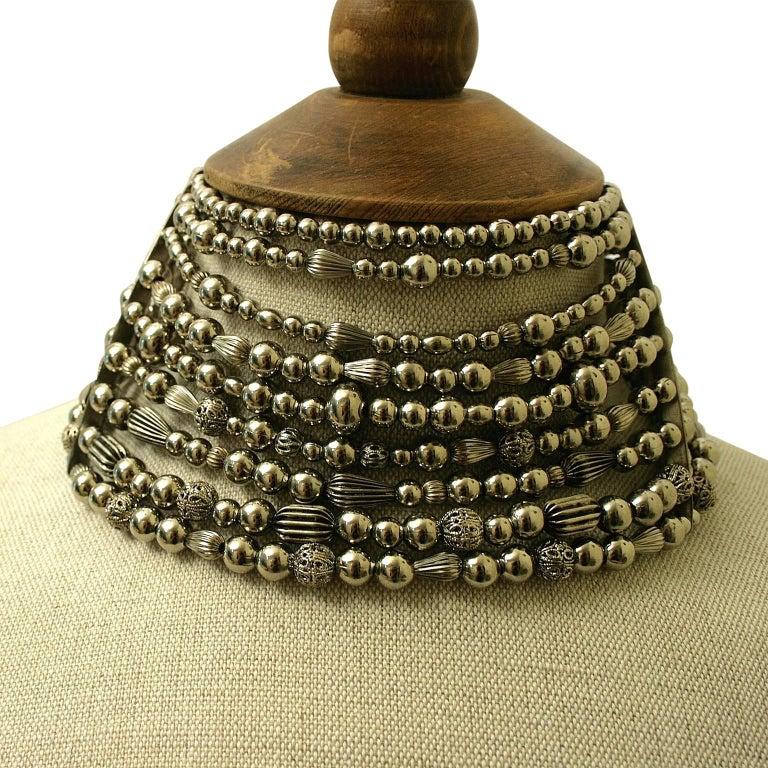 John Galliano for Christian Dior 1990s Maasai Inspired Vintage Choker Necklace 2