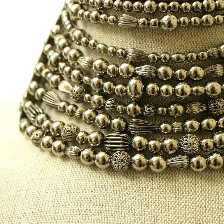 John Galliano for Christian Dior 1990s Maasai Inspired Vintage Choker Necklace 4