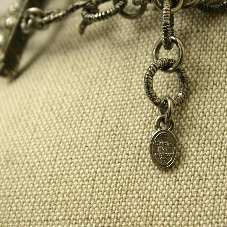 John Galliano for Christian Dior 1990s Maasai Inspired Vintage Choker Necklace 6