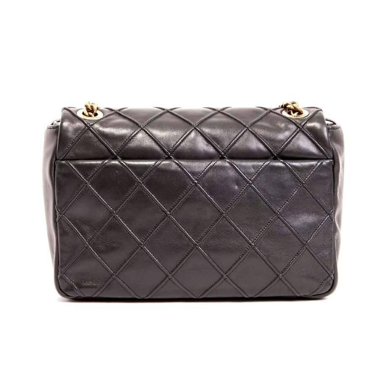 CHANEL Clasp 2.55 Black Smooth Lamb Leather Bag 3