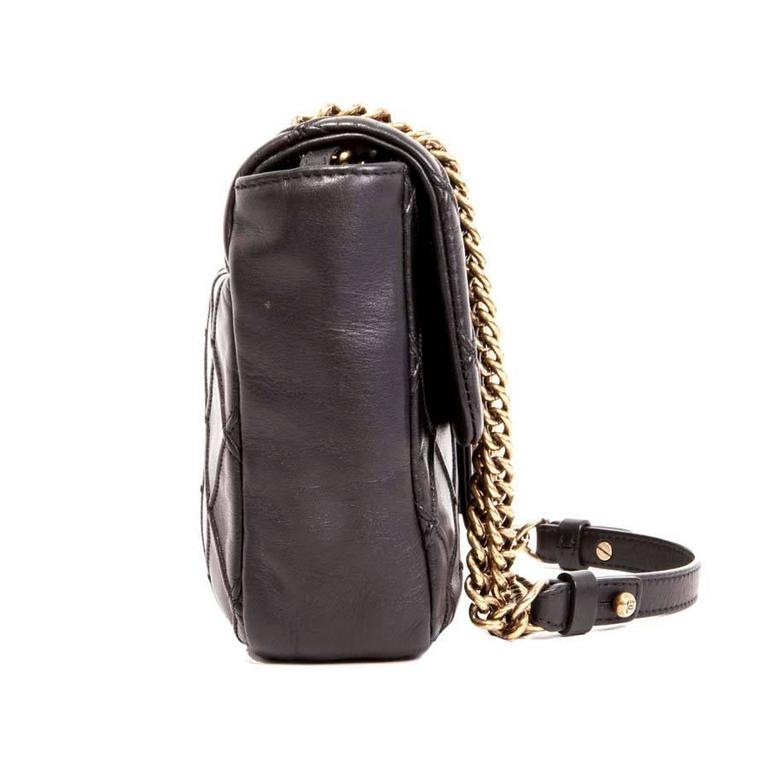 CHANEL Clasp 2.55 Black Smooth Lamb Leather Bag 2