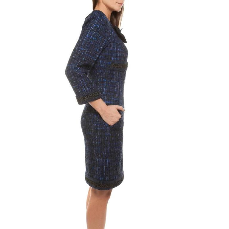 Chanel Dress Paris Shanghai Collection in Silk Tweed and Bicolor Wool 3