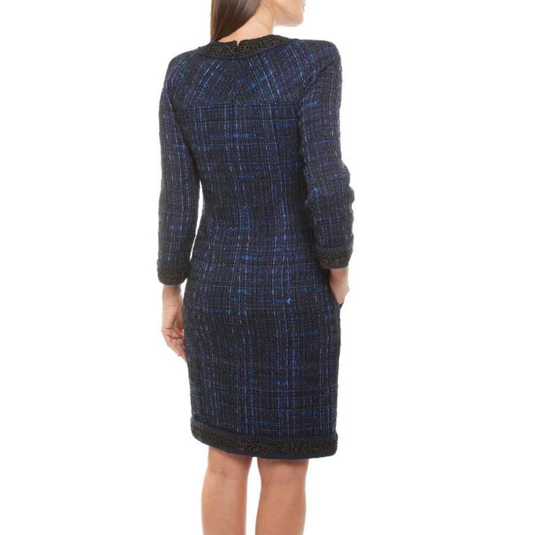 Chanel Dress Paris Shanghai Collection in Silk Tweed and Bicolor Wool 4