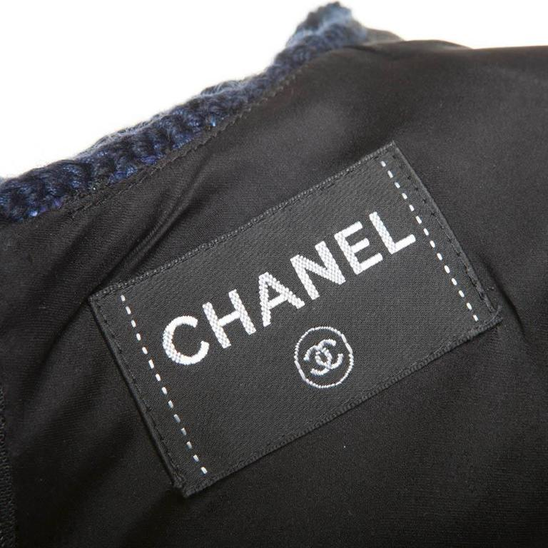 Chanel Dress Paris Shanghai Collection in Silk Tweed and Bicolor Wool 8
