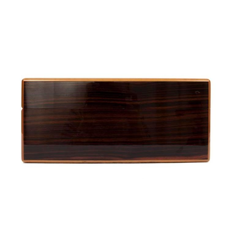 LOUIS VUITTON Cigar Case in mahogany finish in ebony wood In Excellent Condition For Sale In Paris, FR