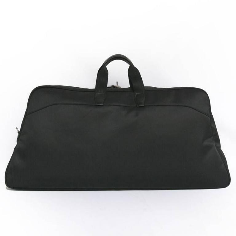 HERMES Canvas Black Chevrons Tennis Bag with its Black Towel 2