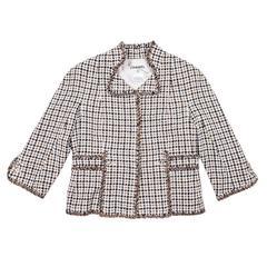 Chanel Spring Jacket in tweed blue and beige
