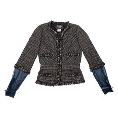 Chanel Autumn 2007 38FR Multicolored Coated Tweed Jacket