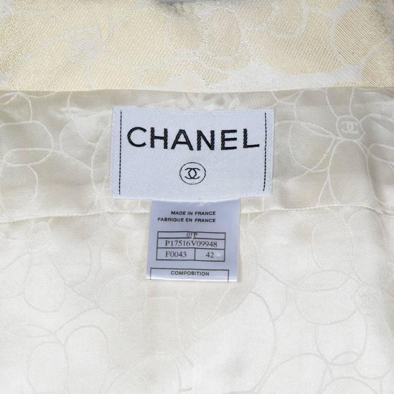 Chanel Spring 2001 Cotton Sleeveless Jacket with a Beaded Pearl Belt 42FR 5