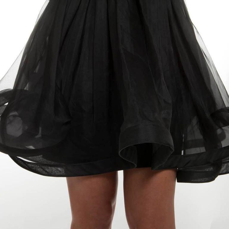 Valentino Black Cocktail Dress 40IT For Sale 3