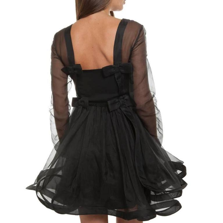 Women's Valentino Black Cocktail Dress 40IT For Sale