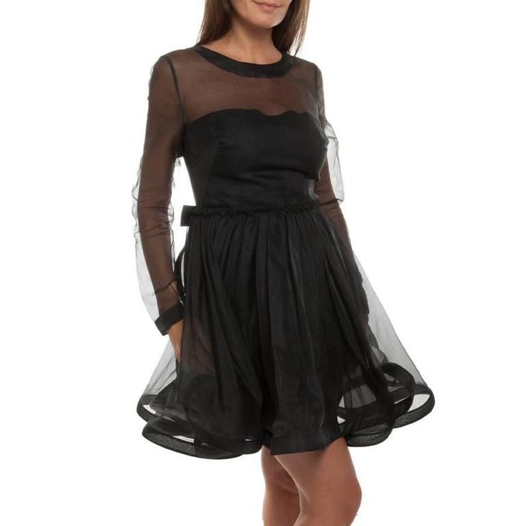 Valentino Black Cocktail Dress 40IT For Sale 1