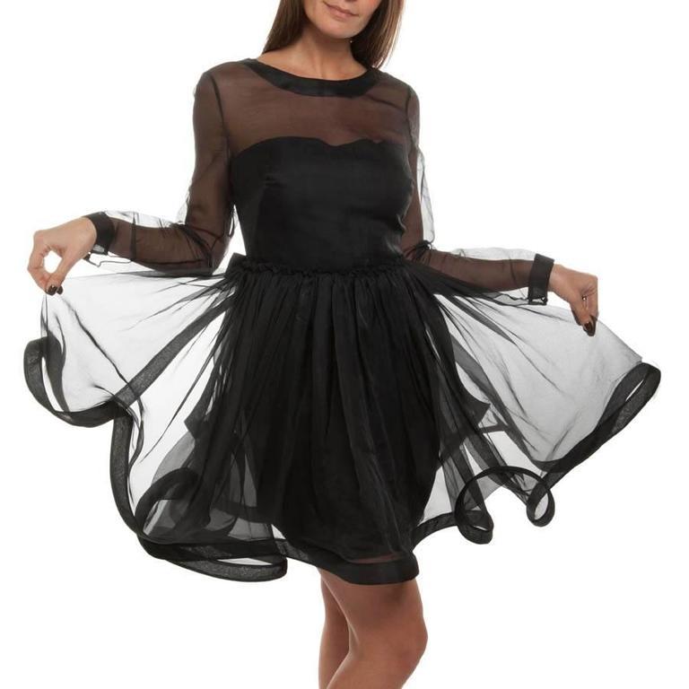 Valentino Black Cocktail Dress 40IT 2