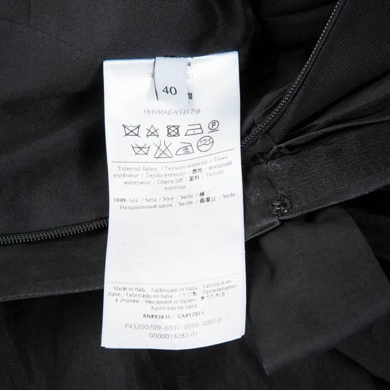 Valentino Black Cocktail Dress 40IT For Sale 6