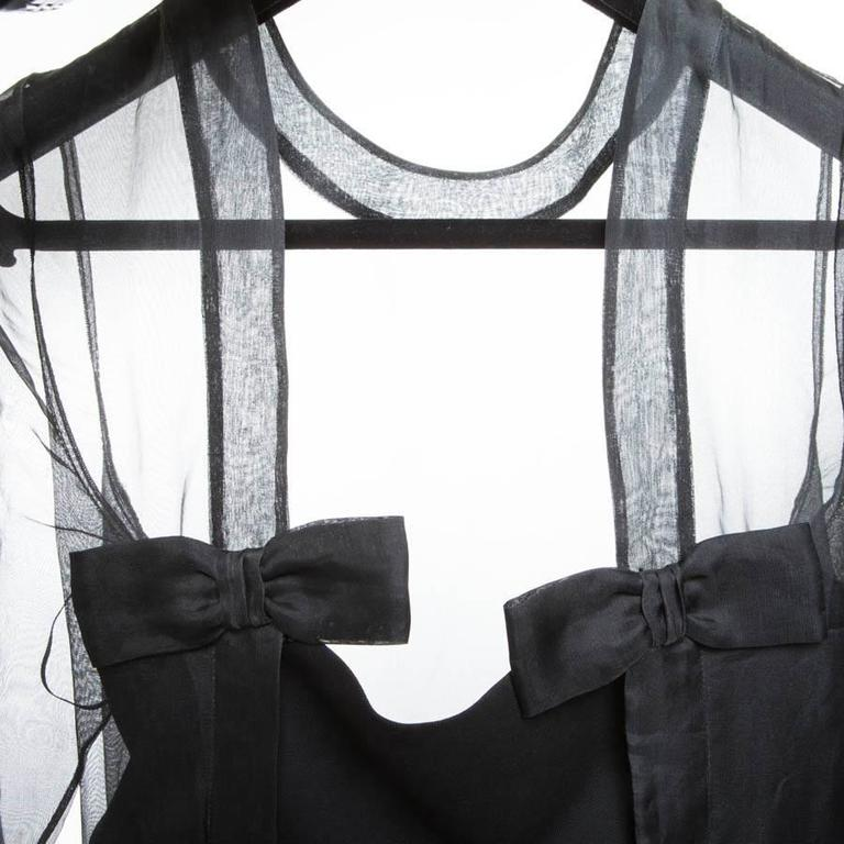 Valentino Black Cocktail Dress 40IT For Sale 4