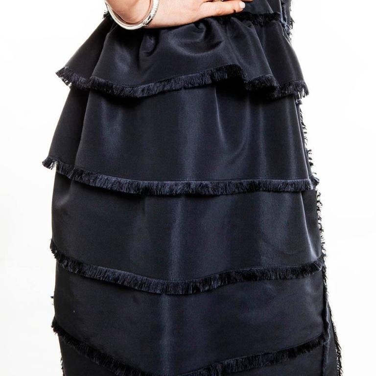 Oscar de la Renta Cocktail Dress in Blue Silk Taffeta For Sale 2