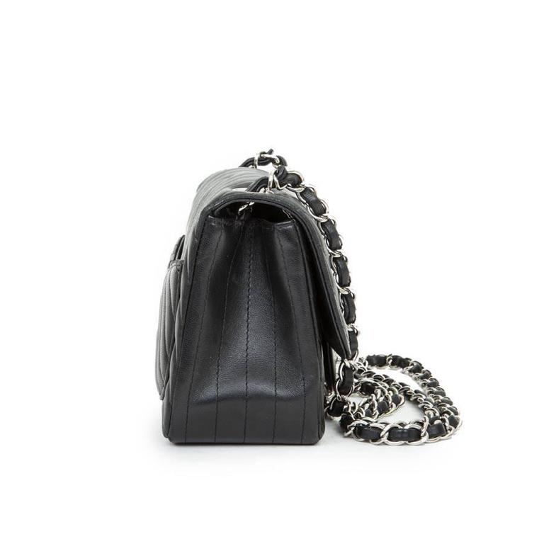 Women's Mini Chanel Quilted Black Lamb Leather Shoulder Bag For Sale