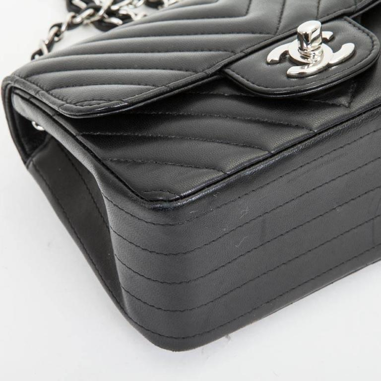 Mini Chanel Quilted Black Lamb Leather Shoulder Bag For Sale 1
