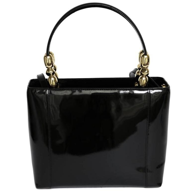 Lady Dior Bag In Black Patent Leather From Maison Gold Jewelry Zip