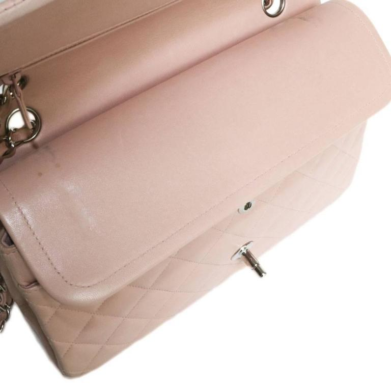 CHANEL Timeless Flap Shoulder Bag in Pink Leather  For Sale 3