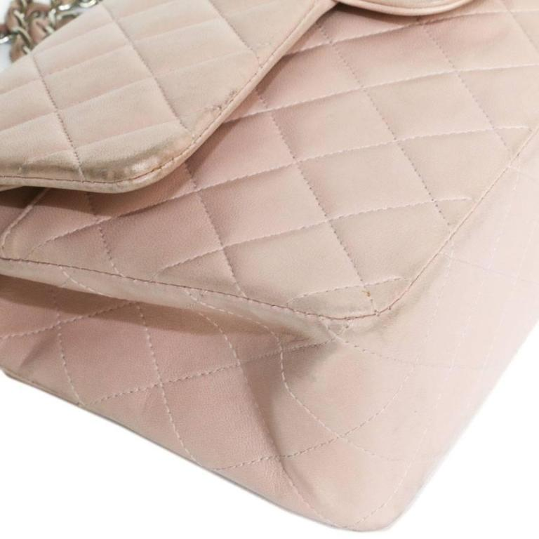 CHANEL Timeless Flap Shoulder Bag in Pink Leather  For Sale 1