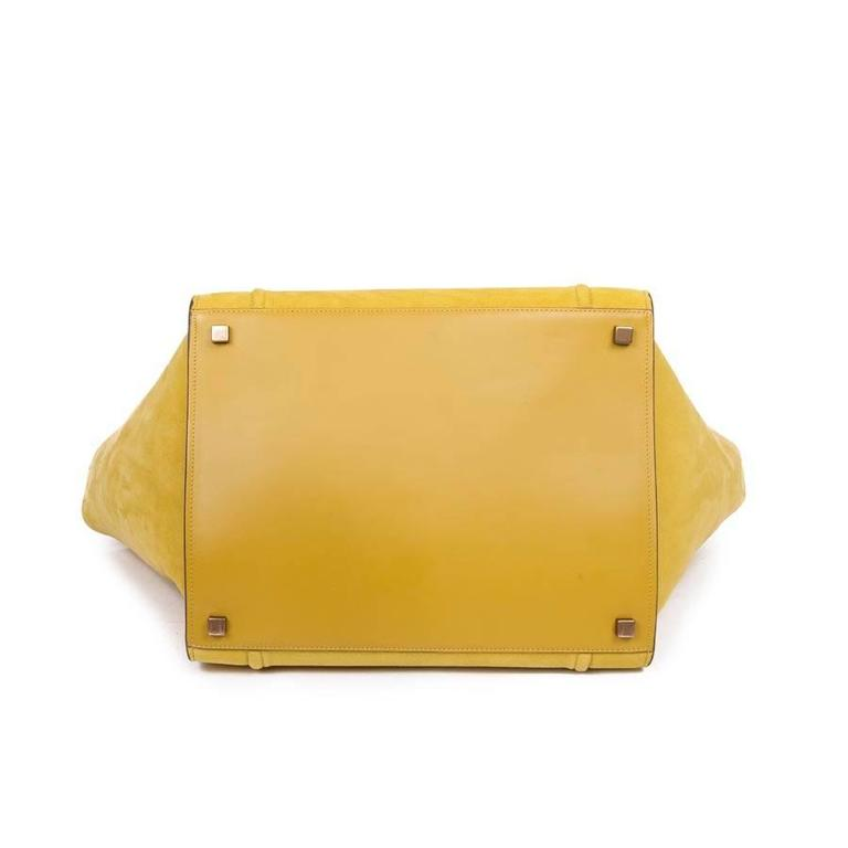 Céline Phantom Nubuck Chartreuse Model Bag in Green Anise Calf Leather 4