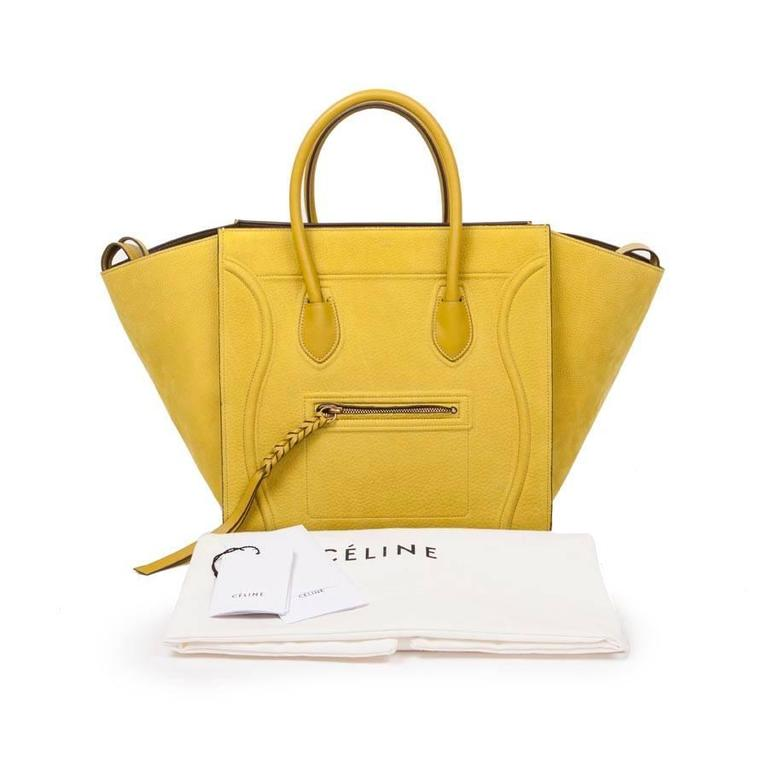 Céline Phantom Nubuck Chartreuse Model Bag in Green Anise Calf Leather 7