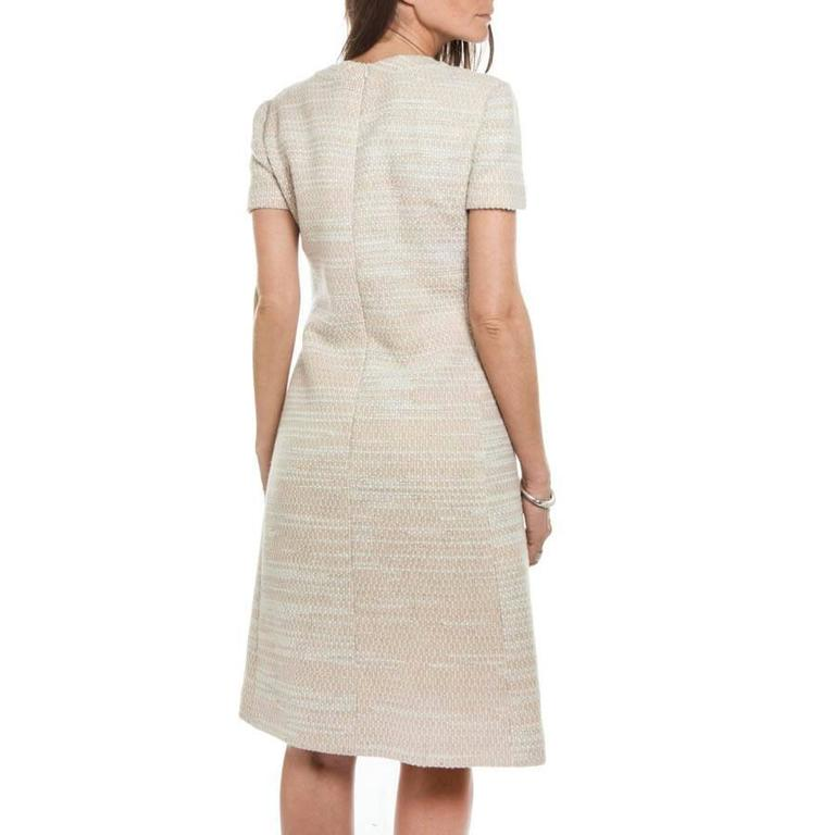 CHANEL Dress Size 40 FR in Beige Wool and Sequins 4