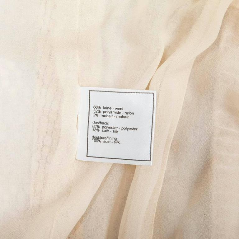 CHANEL Dress Size 40 FR in Beige Wool and Sequins 7