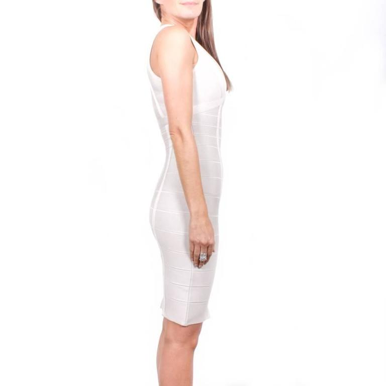 Hervé Léger XS Pearl Gray Bandage Dress 5
