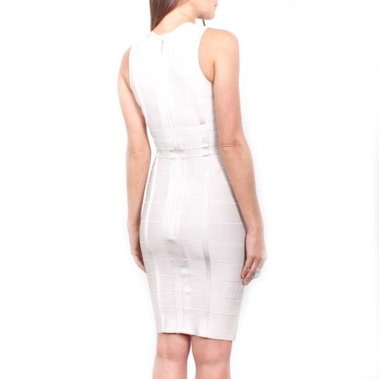 Hervé Léger XS Pearl Gray Bandage Dress 6