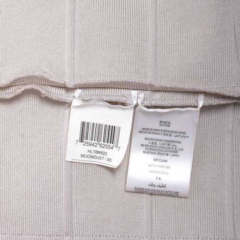 Hervé Léger XS Pearl Gray Bandage Dress 7