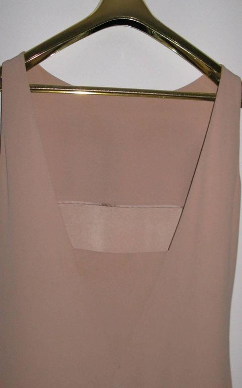 Brown AZZARO Size 38 FR Short Pink Dress For Sale