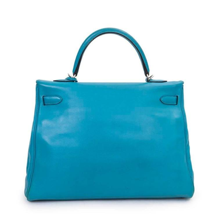 b5c1434e2 ... where can i buy hermes kelly ii 35 bag in izmir blue swift calfskin  leather with