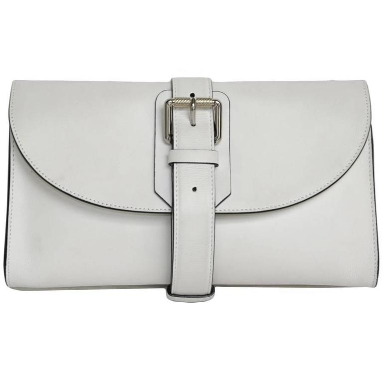 PROENZA SCHOULER White Leather Clutch