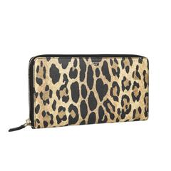 GIVENCHY Zipped Wallet in Polyurethane Leopard Print