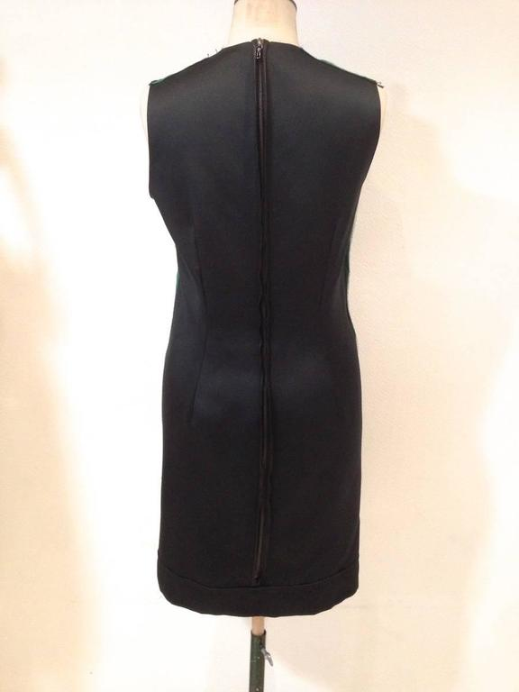 LANVIN Sleeveless Cocktail Dress 'Les 10 ans' in Black and Green Silk Size 36FR 4