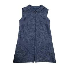 CHANEL Blue Cotton and Wool Dress Size 50FR