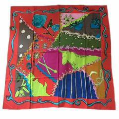 CHRISTIAN LACROIX Large Multicolored Silk Scarf
