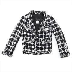 CHANEL Size 38FR Jacket Two-tone Black and White in Cotton and Viscose