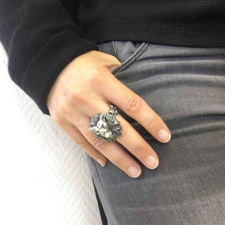 CHANEL Size 56FR 'Paris-Venice' Collection Ring in ...