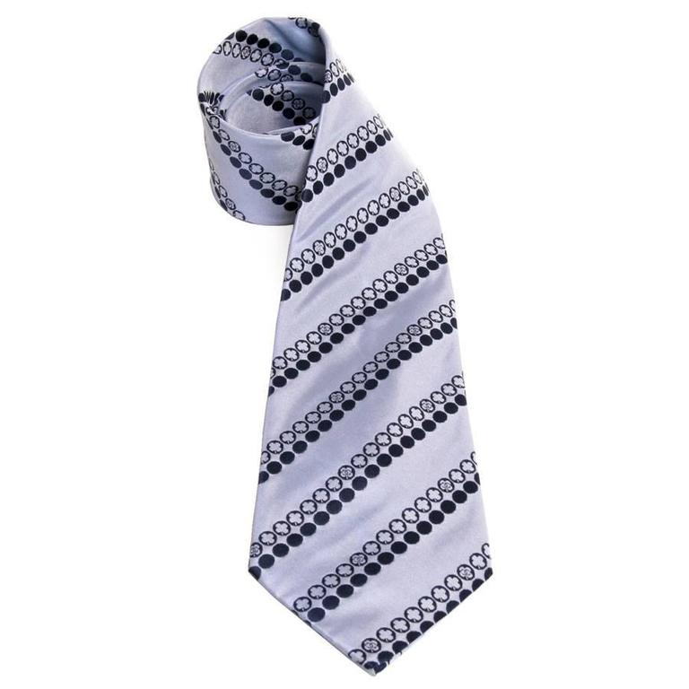 CHANEL Tie in Blue Silk