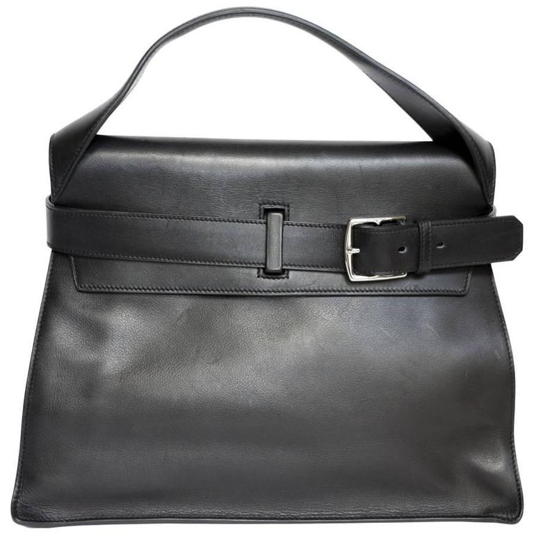 HERMES 'Etribelt' Handbag in Black Leather For Sale