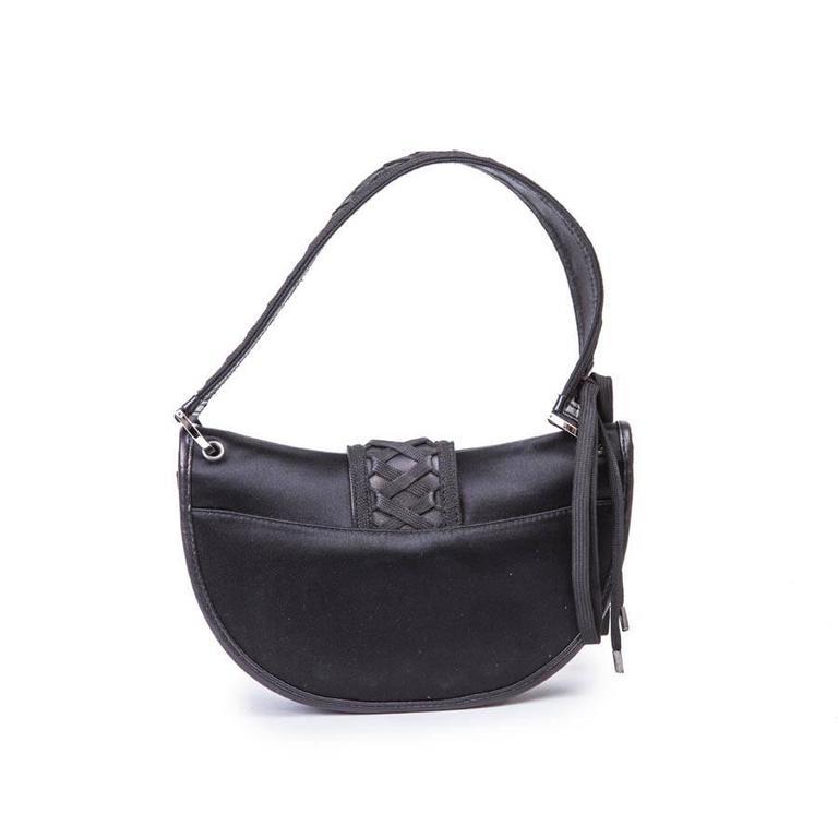 DIOR Bag in Black Silk Satin For Sale 1