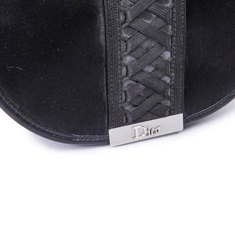 DIOR Bag in Black Silk Satin For Sale 2