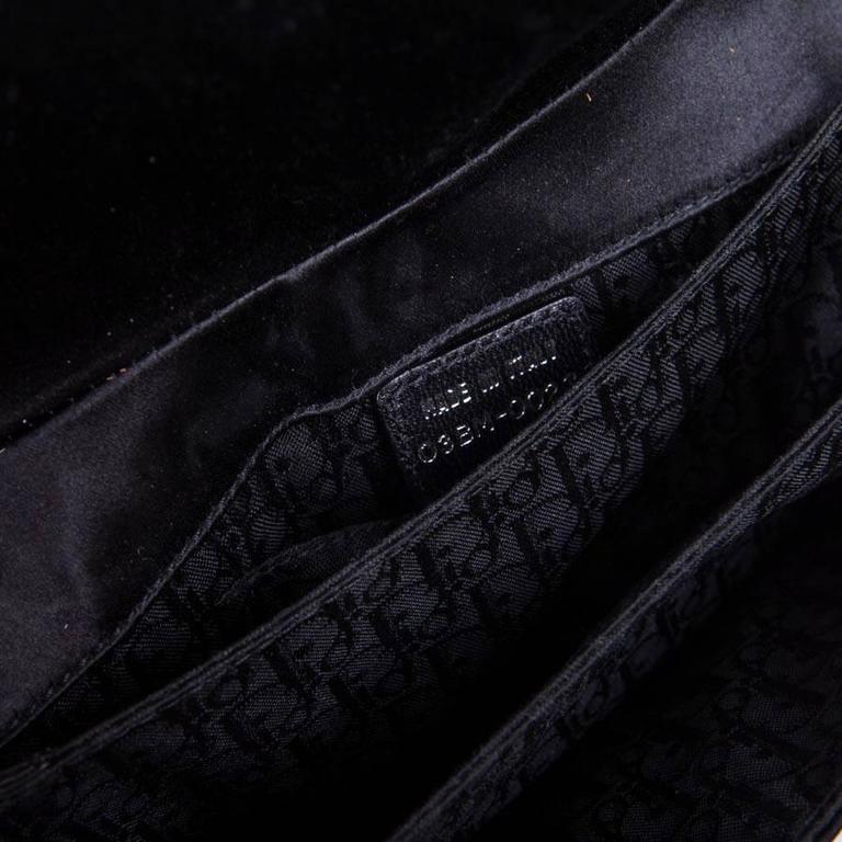 DIOR Bag in Black Silk Satin For Sale 5