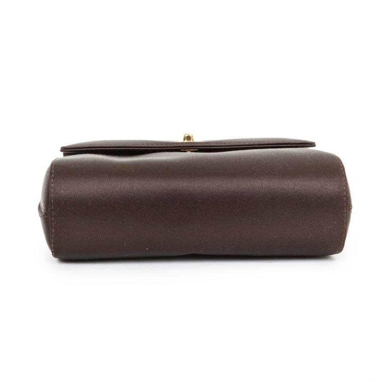 CHANEL Evening Bag in Brown Silk Satin 3
