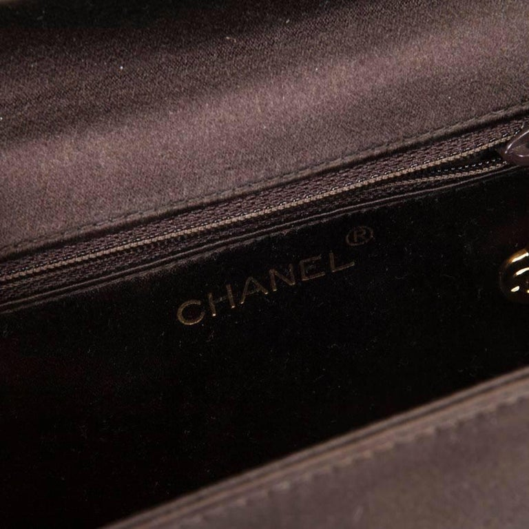 CHANEL Evening Bag in Brown Silk Satin 9
