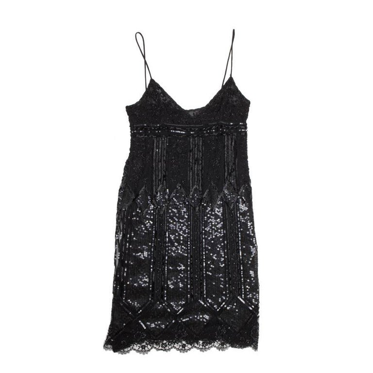VALENTINO Black Silk Cocktail Dress Size 8US